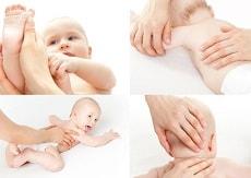 Ein Osteopath hilft Babys